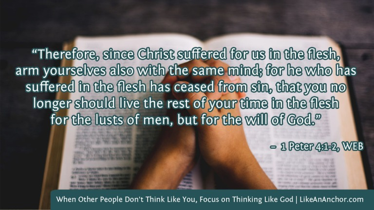 When Other People Don't Think Like You, Focus on Thinking Like God | LikeAnAnchor.com