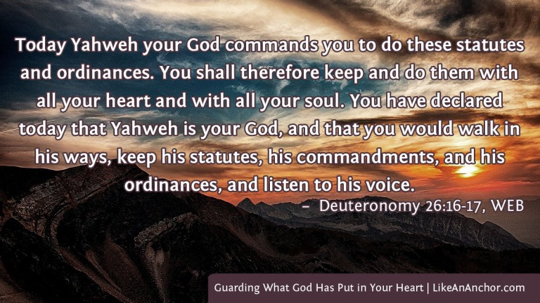 """We often say that """"guard your heart"""" means keeping bad things out, but it also means keeping good things in."""