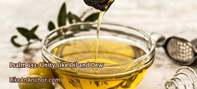 Psalm 133: Unity Like Oil and Dew